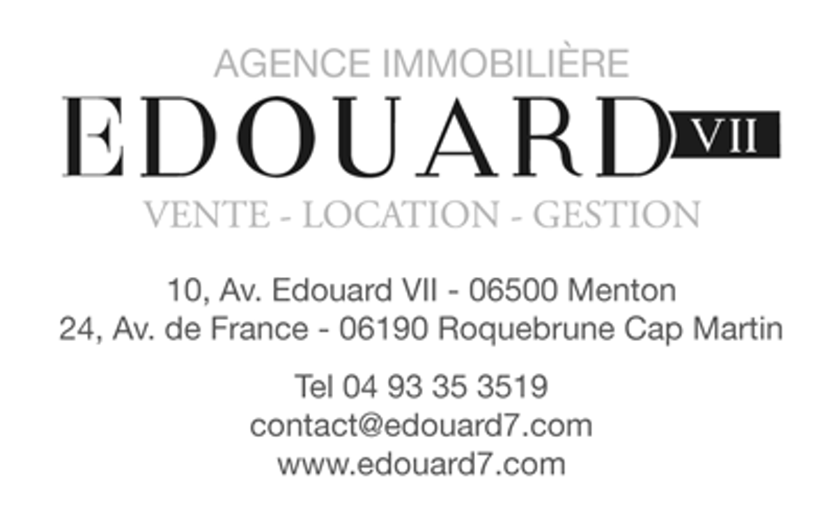 Edouard 7 real estate agence immobili re menton for Agence immobiliere menton